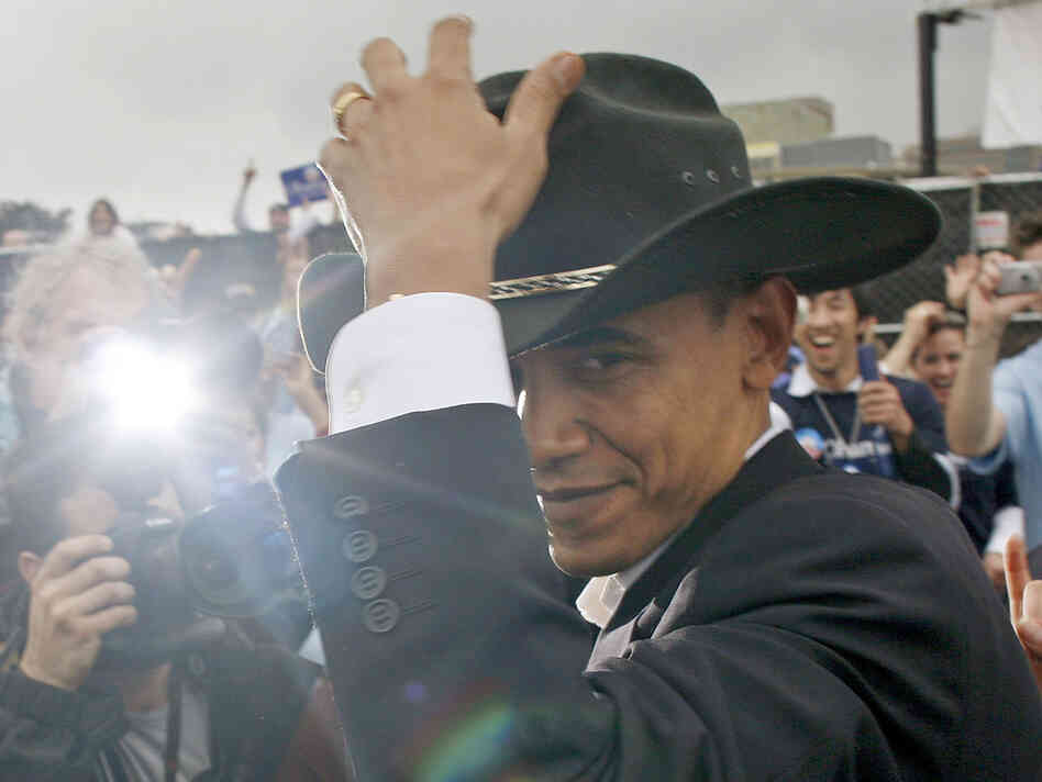 President Obama isn't generally the type to wear a cowboy hat (though he tried on one here in Austin, Texas, in 2007), but he's trying to reach out to rural voters as he campaigns for re-election.
