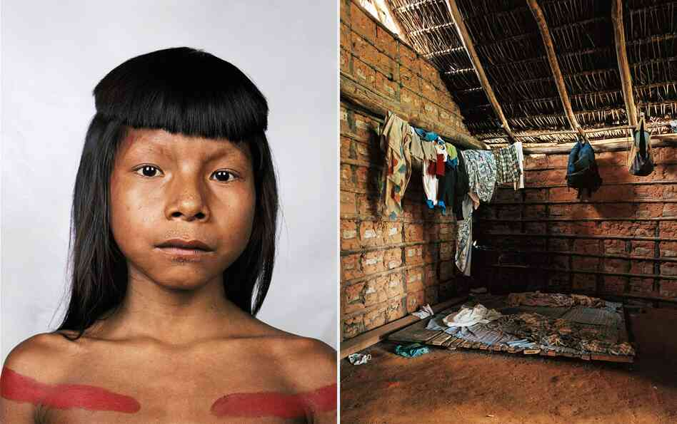 Ahkohxet is 8 years old and a member of the Kraho tribe, which lives in the basin of the Amazon River, in Brazil. There are only 1,900 members of the tribe. The Kraho people believe that the sun and moon were creators of the universe, a