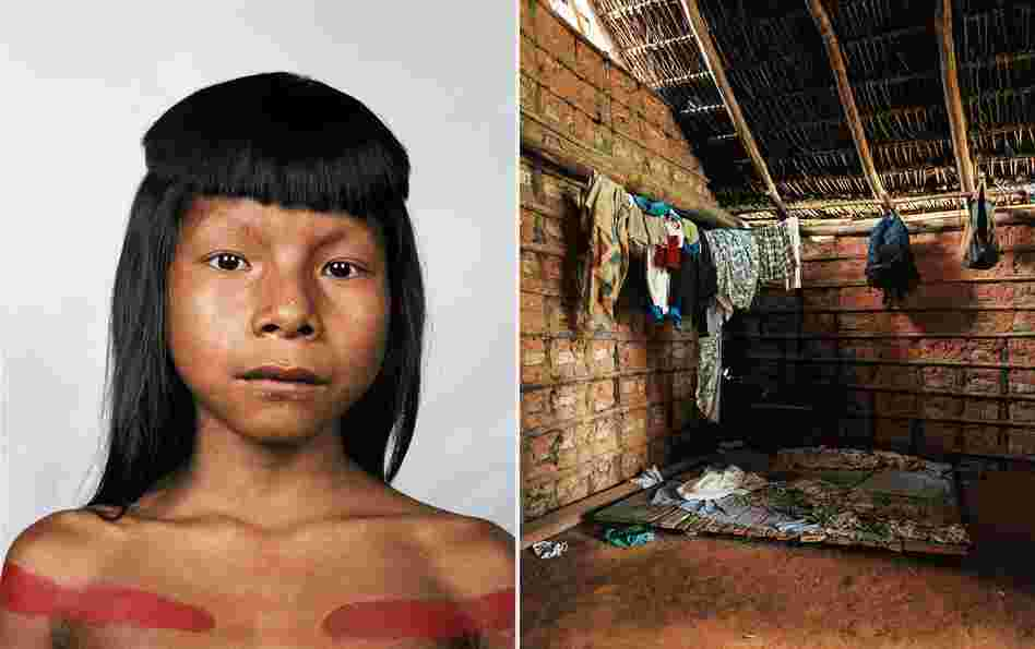 Ahkohxet is 8 years old and a member of the Kraho tribe, which lives in the basin of the Amazon River, in Brazil. There are only 1,900 members of the tribe. The Kraho people believe that the sun and moon were creators of the universe, and they engage in rituals that are many centuries old.
