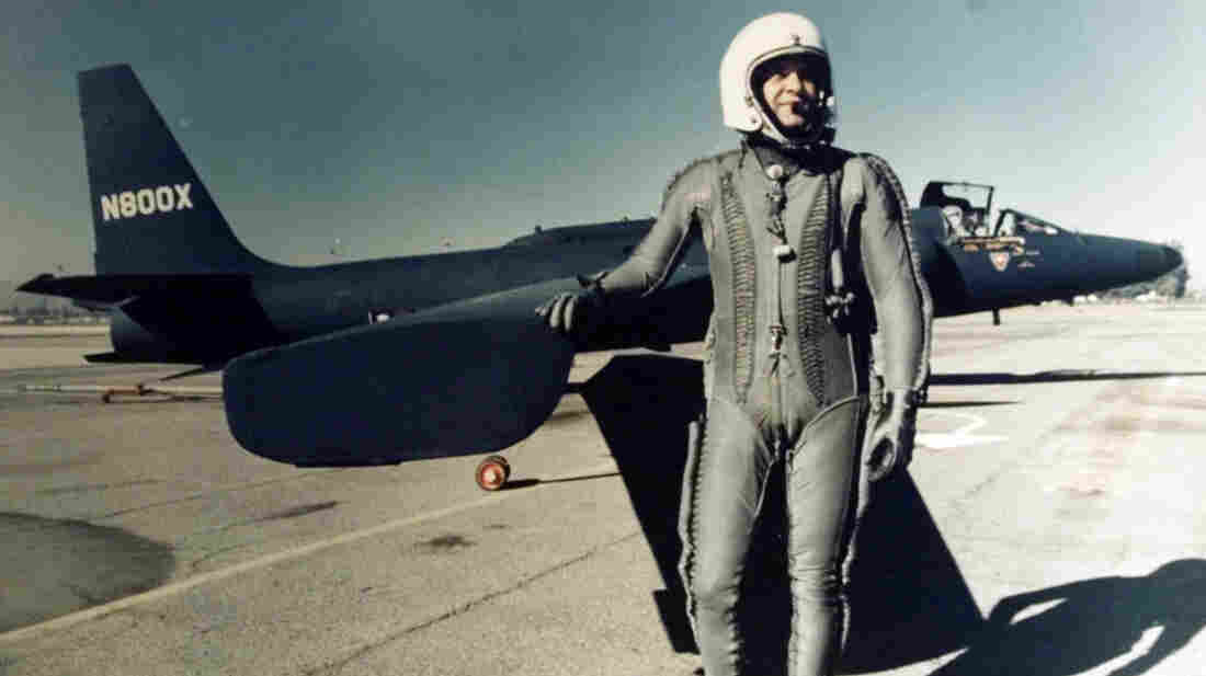 This undated photo of Francis Gary Powers shows him standing next to a U-2 spy plane. Powers was shot down and captured in the Soviet Union in 1960 and held for nearly two years. He was posthumously awarded a Silver Star at the Pentagon on June 15.