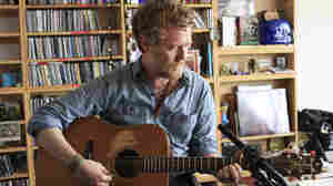Glen Hansard performs a Tiny Desk Concert at the NPR Music offices..