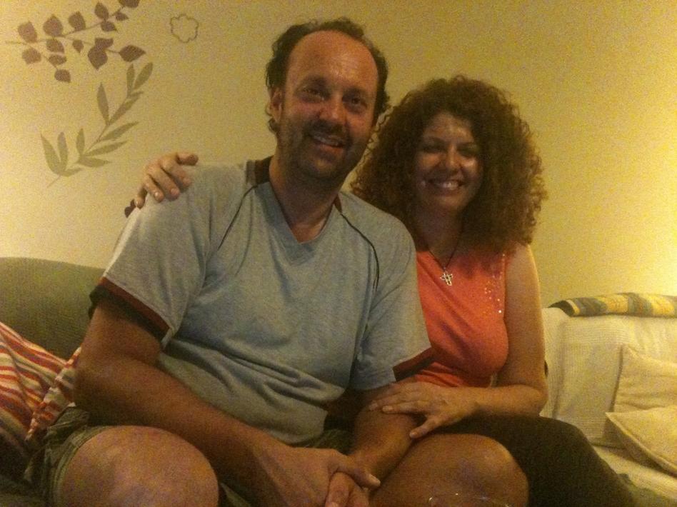 Elias Tilligadas and Katerina Margeritou are getting married next week. (Nikolia Apostolou/NPR)
