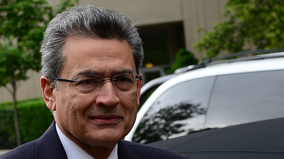 Rajat Gupta on Wednesday as he arrived at the federal courthouse in Manhattan. (AFP/Getty Images)