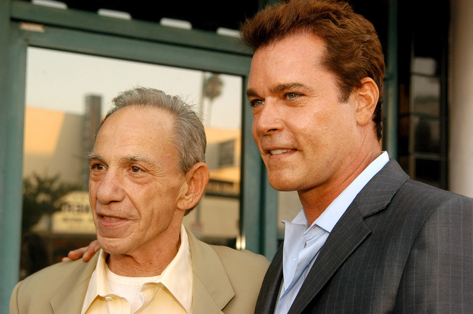 <strong></strong>Hill (left, with Ray Liotta, who played him in the movie <em>GoodFellas)</em> was the central figure in <em>Wiseguy,</em> the 1986 Nicholas Pileggi book that later became the Martin Scorsese-directed film.
