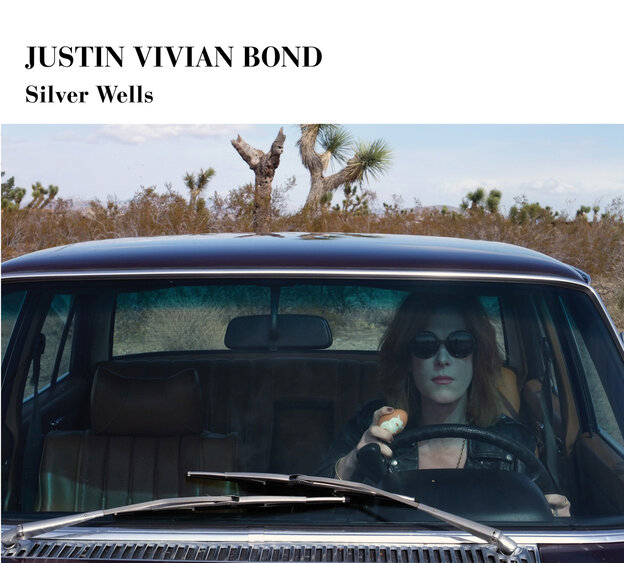 The cover of Justin Vivian Bond's album Silver Wells, on which the cabaret performer uses other people's songs to construct a plotline that echoes the Joan Didion novel Play It As It Lays.