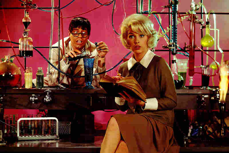Lewis and Stella Stevens in 1963's The Nutty Professor. Lewis retained the rights to his hit film, which was later remade by Eddie Murphy for the big screen and adapted for the stage.