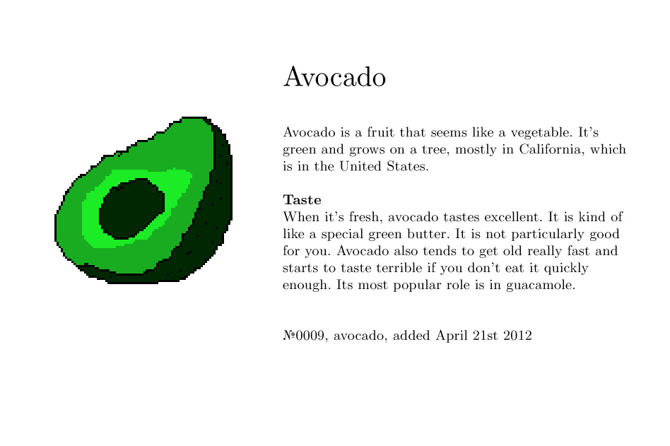 No0009, avocado
