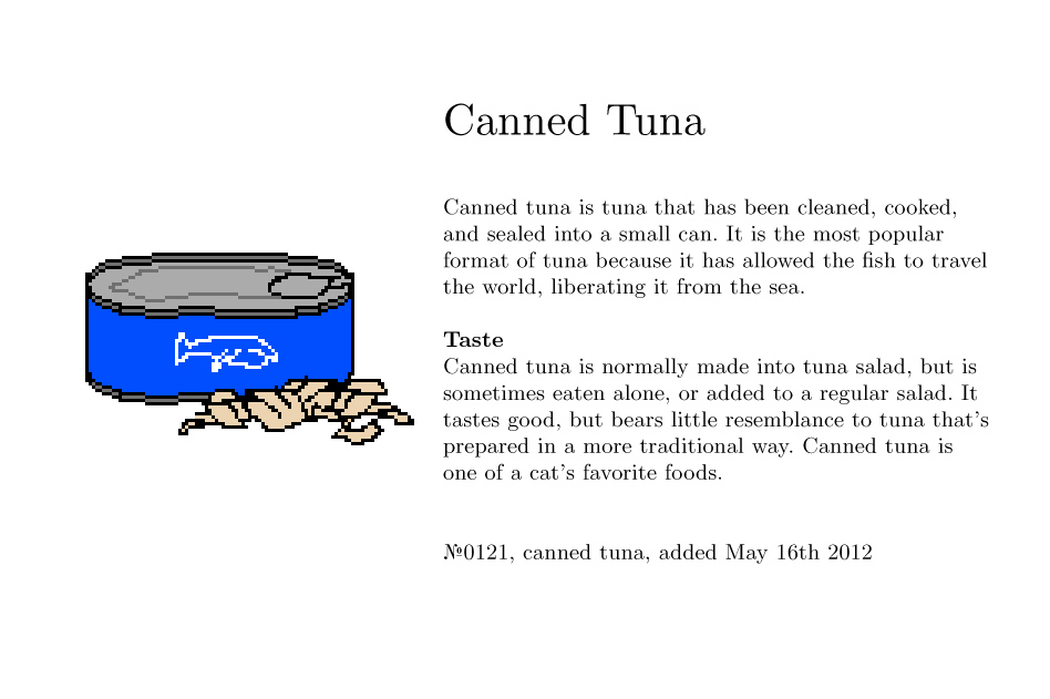 No0121, canned tuna