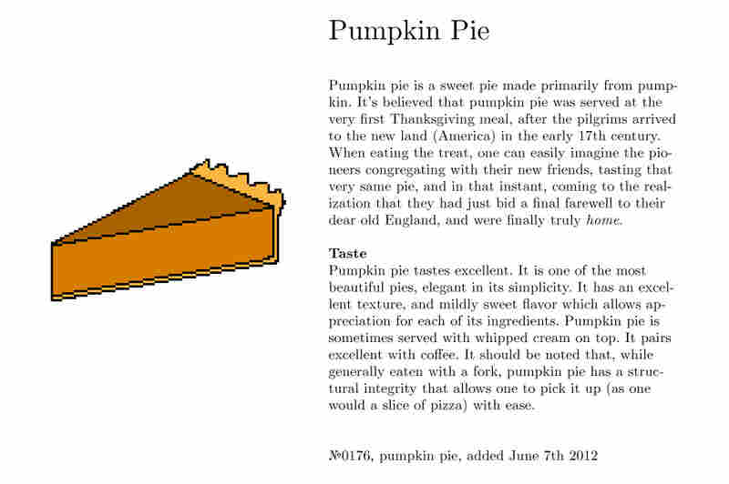 №0176, pumpkin pie