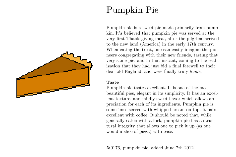 No0176, pumpkin pie