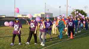 "An American Cancer Society Relay for Life event at the University of Texas-Dallas in 2006. The events are meant to ""celebrate the lives of people who have battled cancer, remember loved ones lost, and fight back against the disease,"" according to the organization."