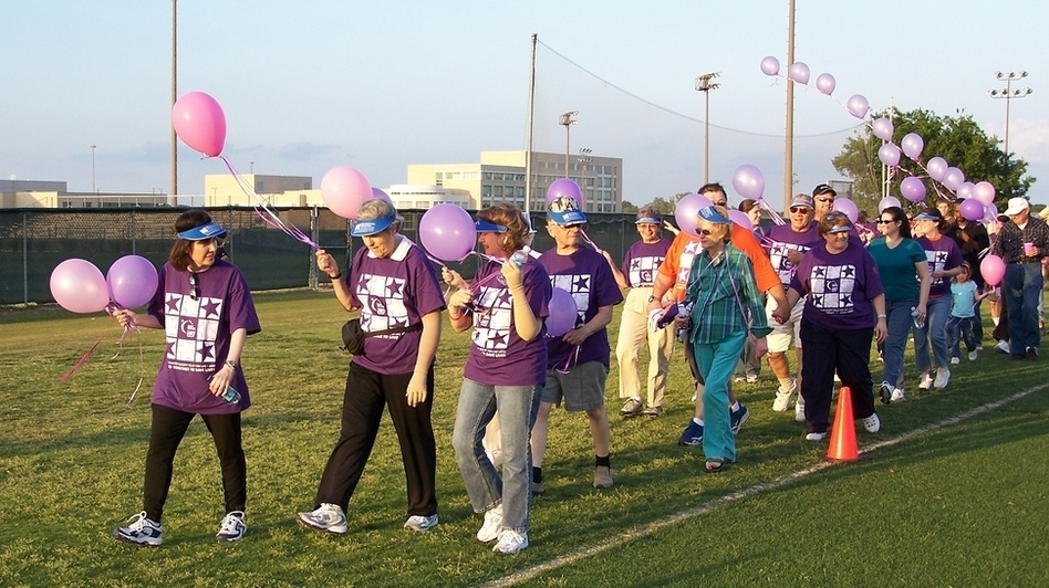 "An American Cancer Society Relay for Life event at the University of Texas-Dallas in 2006. The events are meant to ""celebrate the lives of people who have battled cancer, remember loved ones lost, and fight back against the disease,"" according to the organization. (via Wikimedia Commons)"