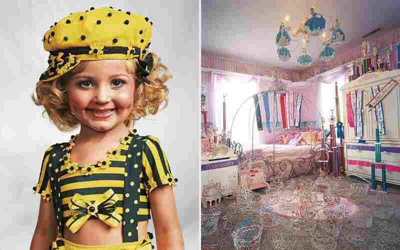Jasmine prefers to be called by her nickname, Jazzy. She lives in a big house in Kentucky with her parents and three brothers. Her bedroom is full of crowns and sashes, which she has won in child pageants. Only 4 years old, she has already been entered in more than 100 of these competitions.