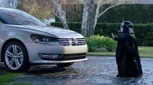 """In this screen shot provided by Volkswagen of America, Max Page stars as a """"Little Darth Vader"""" who thinks he's used """"the force"""" to start a VW Passat."""