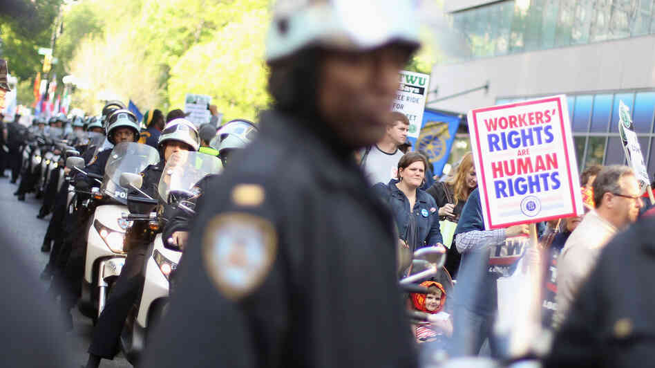 Occupy Wall Street protesters joined with unions in N