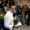 Alexis Tsipras, leader of Syriza Party, casts his vote at a polling station in Athens, Greece.