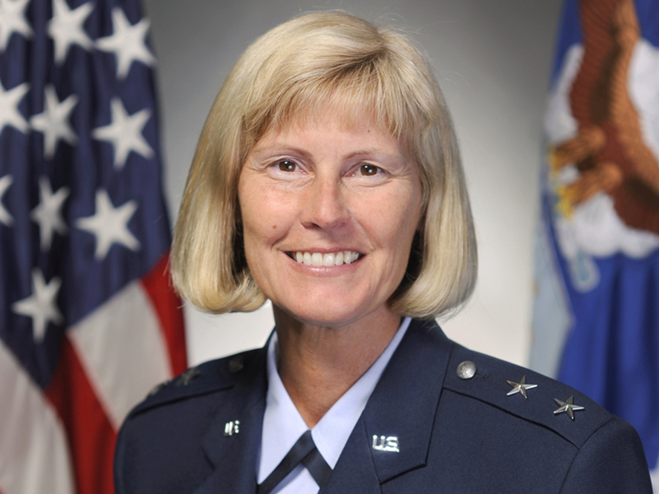 Maj. Gen. Mary Kay Hertog is the outgoing director of the Pentagon's Sexual Assault Prevention and Response Office. The Pentagon is revamping its policies on reporting sex crimes, but there are still questions about how well it will work. (U.S. Air Force)