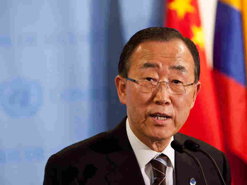 United Nations Secretary-General Ban Ki-moon speaks during a news conference on June 7 at the United Nations headquarters in New York City. Ban wants to focus on making energy available to the poorest populations of the world.