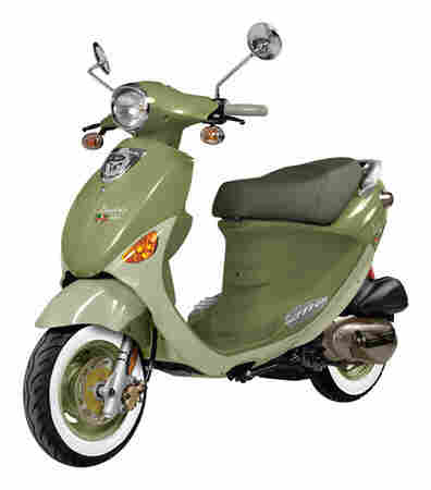 """Genuine Buddy 125 ($2,699): """"It's very reliable, fun to ride, nimble and takes hills easily. It is the best overall value for a city bike. The bike is gutsy for a 125cc, and maintenance costs are reasonable."""" — San Francisco Scooter Girls member Julie Buckner."""