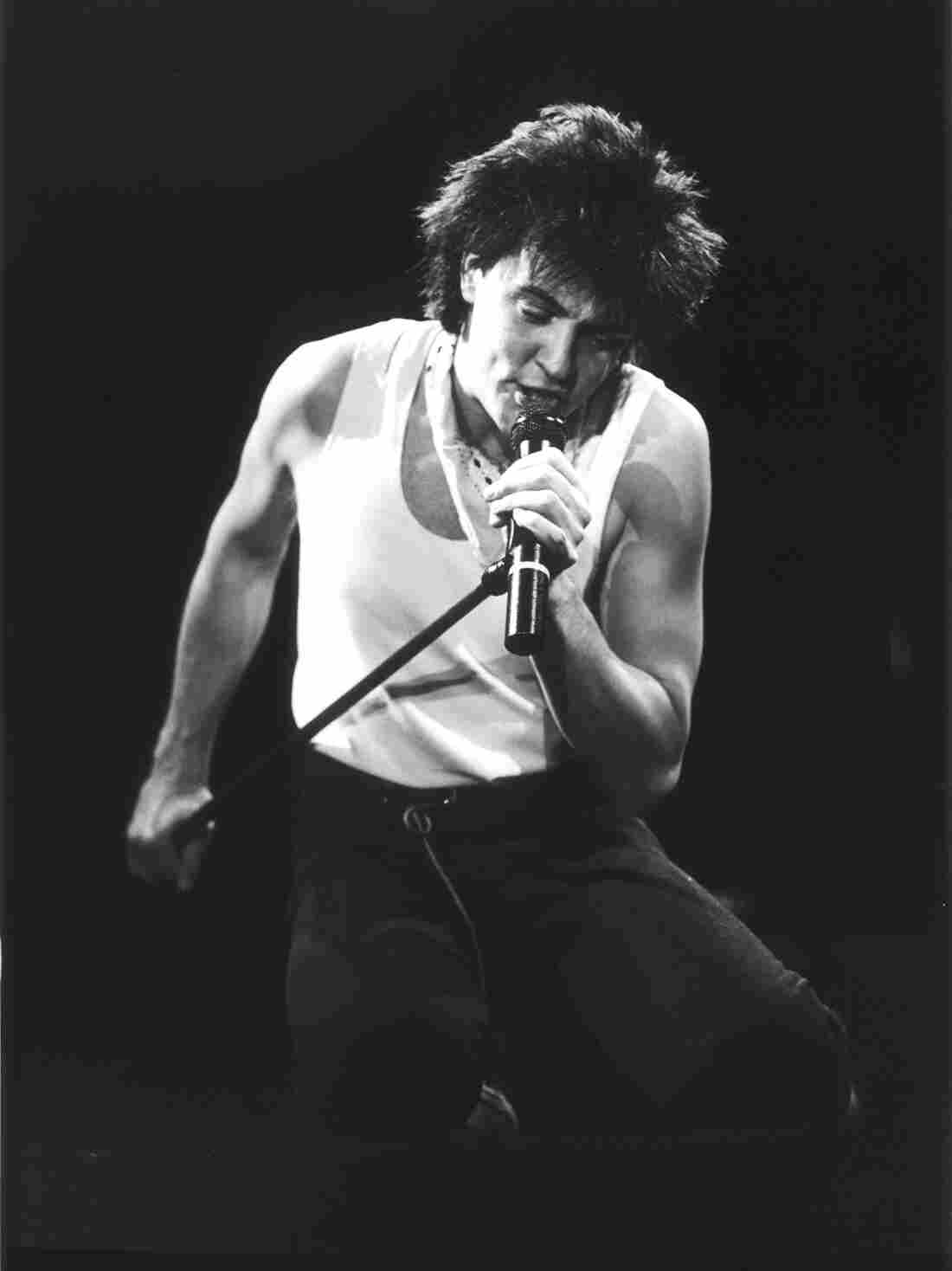 Paul Young onstage in London, 1983.