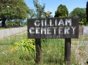 The Gilliam Cemetery, near Sebastopol, Calif., received its first grave in 1852. Many of its older headstones have disappeared over the years.
