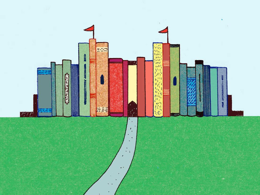 Illustration: Castle made of books