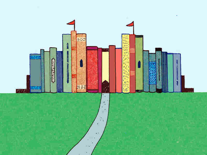 Illustration: Castle made of books