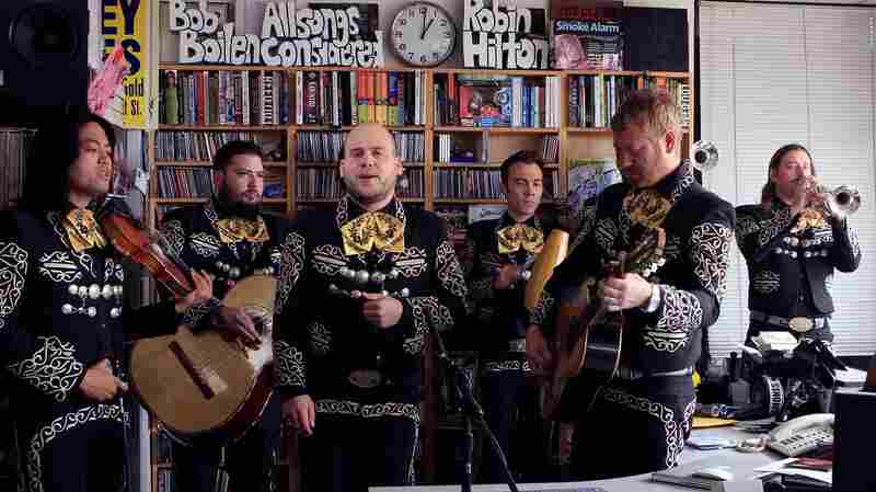 Mariachi El Bronx performs a Tiny Desk Concert at the NPR Music offices.