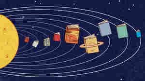 Illustration: Solar system of books