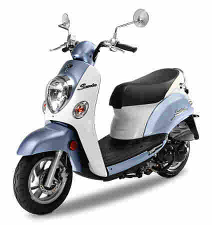 Kymco Sento ($1,899): Adam Baker, an owner of Colorado's Sportique Scooter stores, recommends buyers interested in the Metropolitan consider the Sento, which has the benefit of a front disc brake.