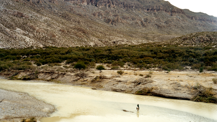 Man on horse, Big Bend National Park, 2009