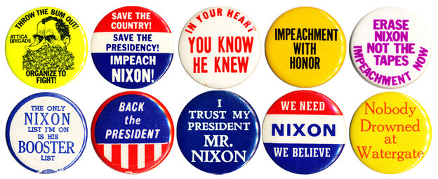 Initially the nation was split on Nixon and the Watergate scandal, but by the summer of '74 there was overwhelming sentiment for him to resign.