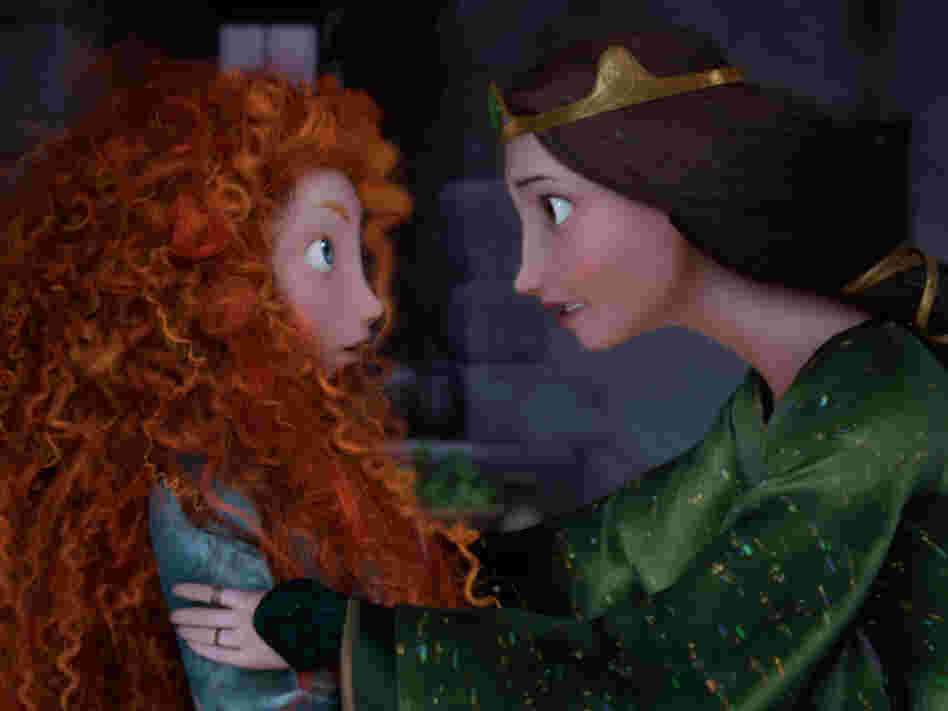 Merida and her mother, Queen Elinor, spar over their very different ideas about what most becomes a princess.