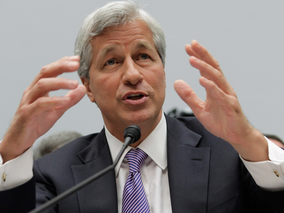 JPMorgan Chase CEO Jamie Dimon during testimony today before the House Financial Services Committee. (Getty Images)