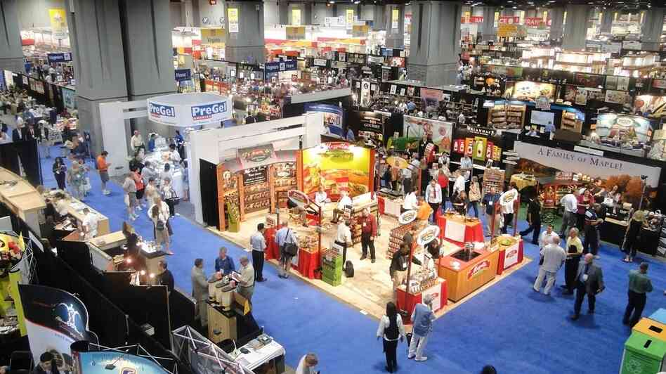 The Fancy Food Show floor in 2011.