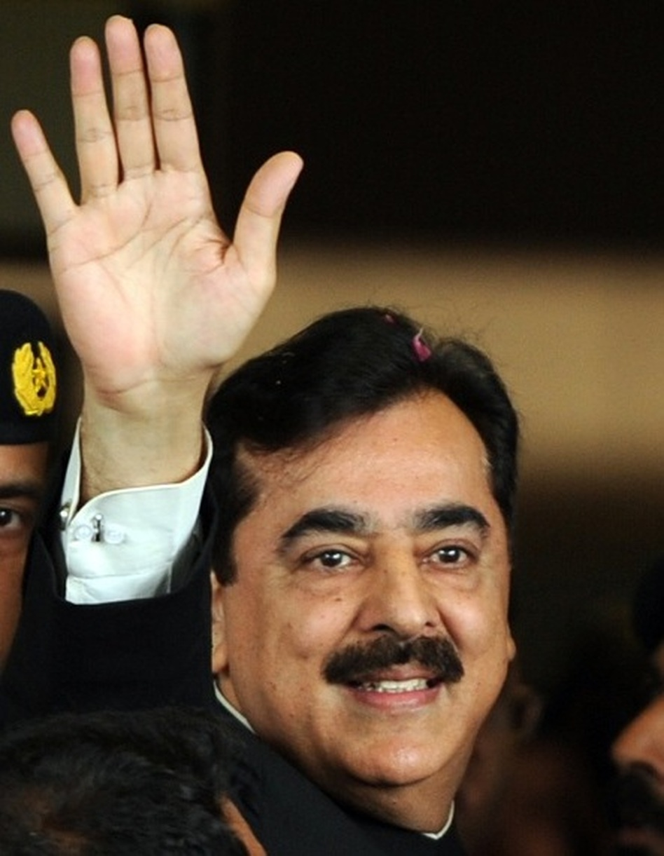 Pakistan's Prime Minister Yousuf Reza Gilani as he arrived at court on April 26 in Islamabad.