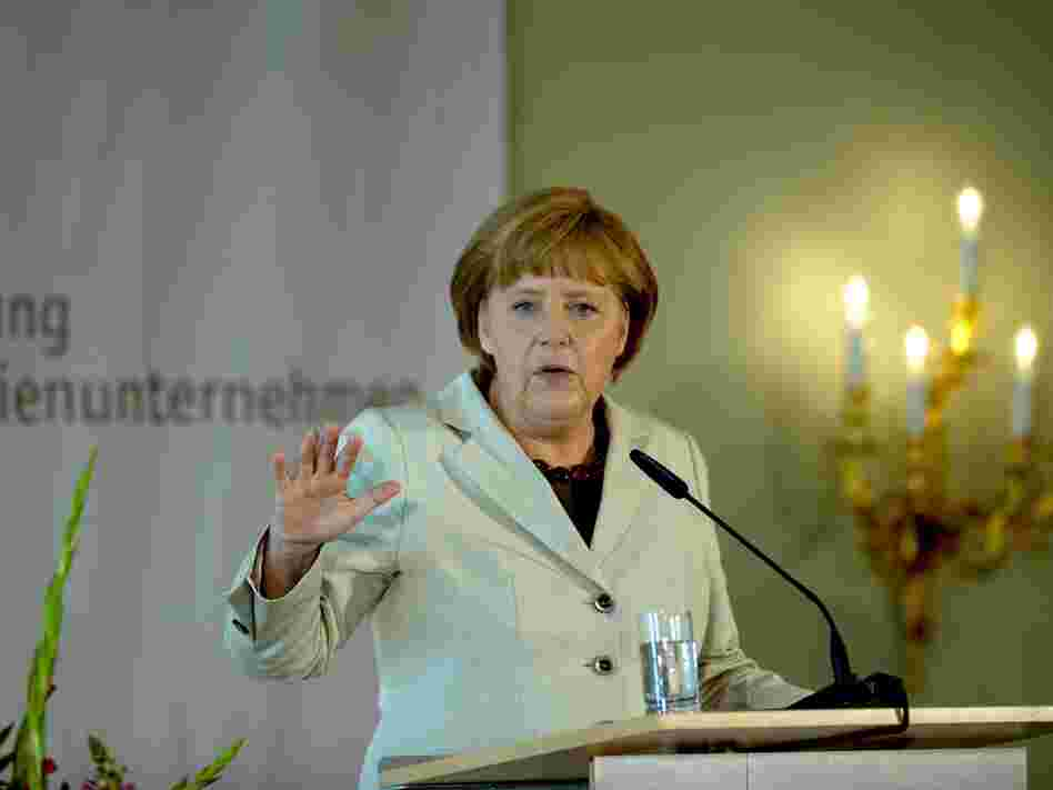 German Chancellor Angela Merkel holds a speech on June 15 in Berlin during a conference organized by the German Foundation for Family Businesses. Head of the region's strongest economy, Merkel and her government hold most of the cards in the ongoing reforms to the eurozone.