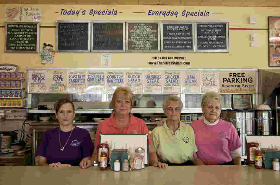 Staff at The Silver Skillet restaurant, 2011