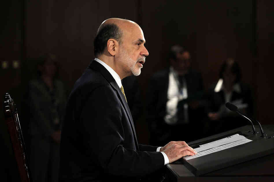 Federal Reserve Board Chairman Ben Bernanke speaks during a news conference on Wednesday in Washington, DC.