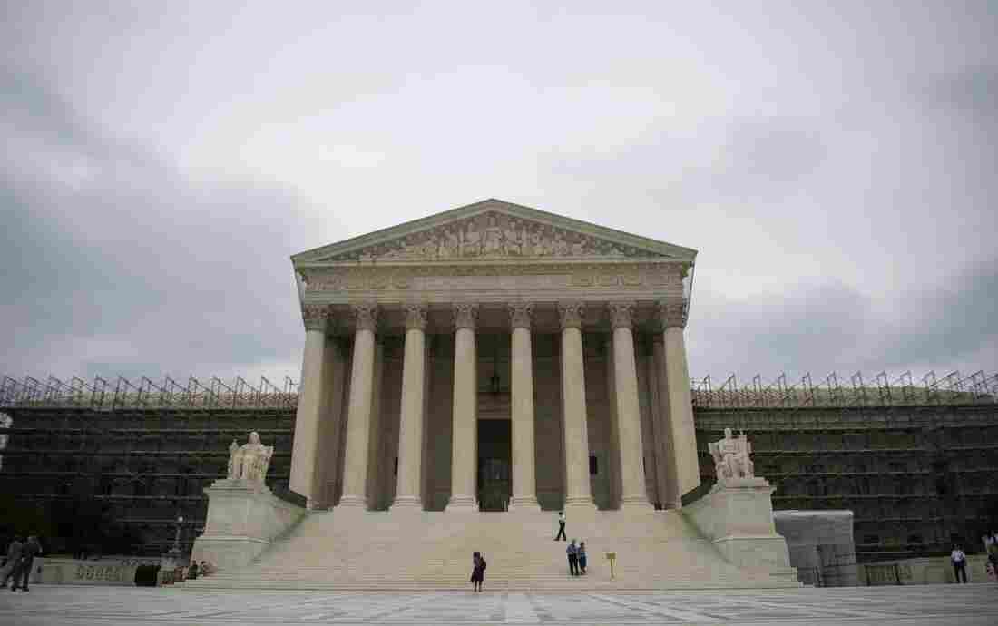 The U.S. Supreme Court is seen in Washington, DC on June 18.