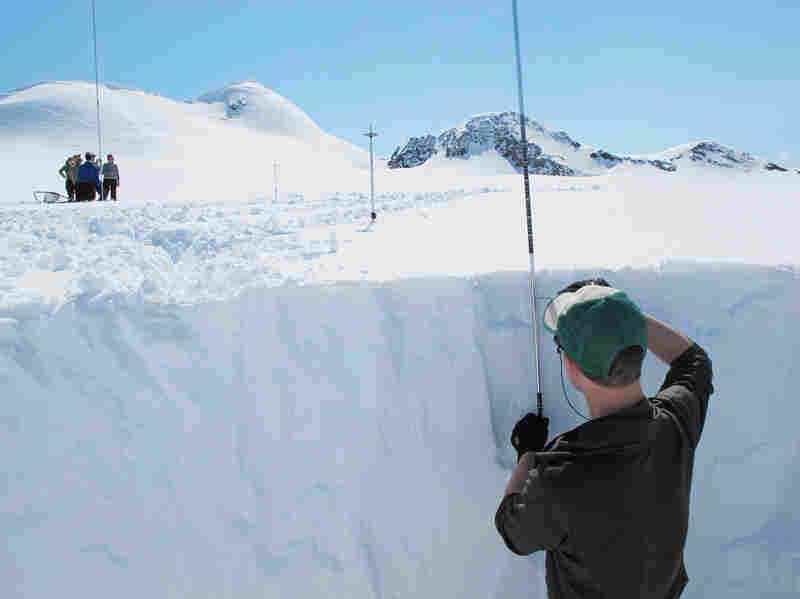 Researchers measure the Eklutna glacier in Alaska to see how long the water it provides will last. The glacier supplies Anchorage with both drinking water and hydro power.