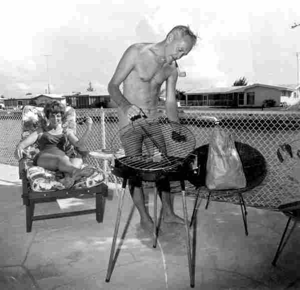 Smoking while smoking. (Cocoa Beach, Fla., 1970)
