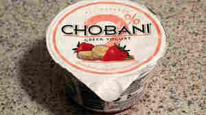 A cup of Chobani Greek yogurt.