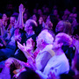 From the Bell House in Brooklyn, New York, the audience reacts to a gaffe from puzzlers puzzling on the Ask Me Another stage.