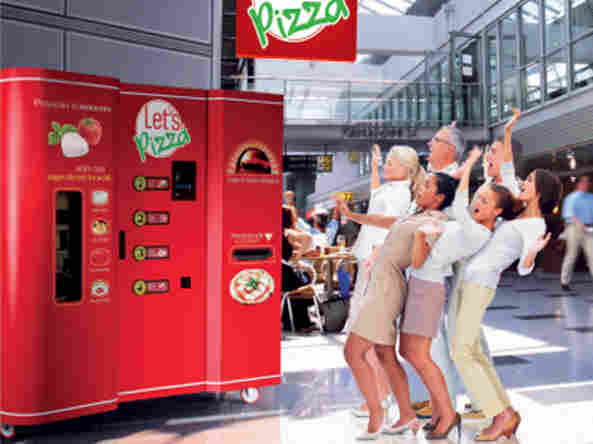 A promotional image for Let's Pizza.