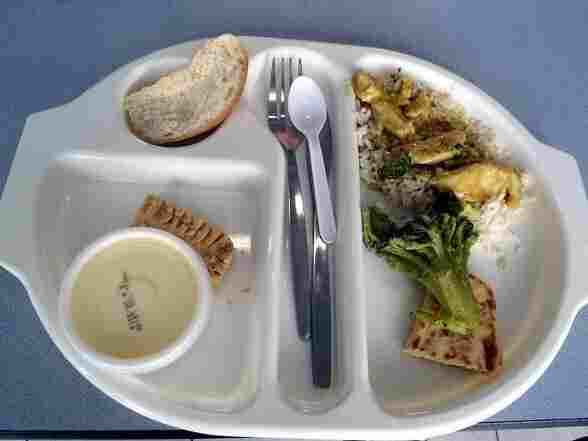 Nine-year-old Martha Payne's favorite school lunch: chicken curry, broccoli and ice cream.
