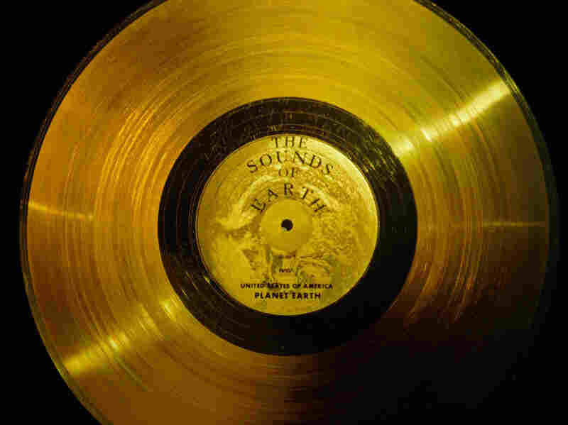 "NASA's website says both Voyager probes carried ""a phonograph record — a 12-inch gold-plated copper disk containing sounds and images selected to portray the diversity of life and culture on Earth."""
