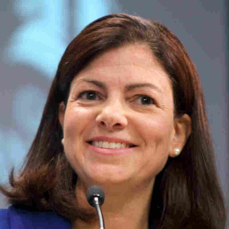 Republican Kelly Ayotte smiles during the AARP Senate forum held at Saint Anselm College in Manchester, N.H., in 2010.
