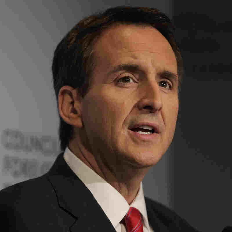Former Minnesota Gov. Tim Pawlenty speaks at the Council on Foreign Relations in New York on June 28, 2011.