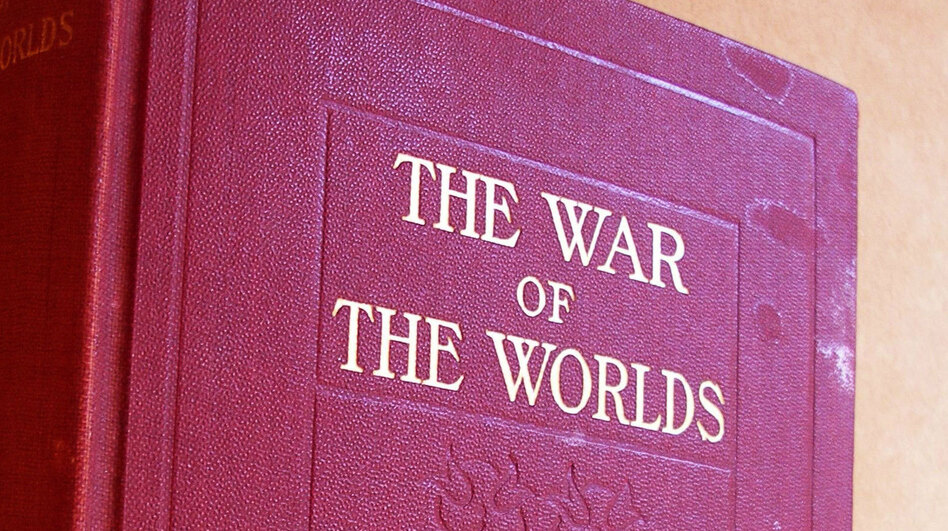 Rocket scientist Robert Goddard's Uncle Spud gave him this copy of The War of the Worlds in 1898. More than a hundred years later, it passed into the hands of essayist Amanda Katz. (Amanda Katz)